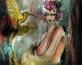 Phoenix 2 - Giclee print of the original painting by Deniz Ercelebi