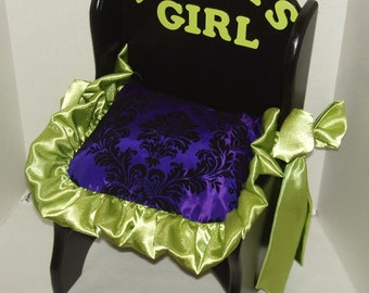 """Chair """"Mommys Girl"""" (custom made) select color/fabric"""