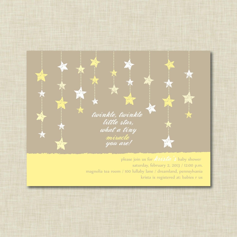 twinkle twinkle little star baby shower invitation by ambermangle