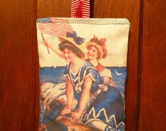 Patriotic Flag Lavender Sachet Pillow Vintage-style Hanging Decor