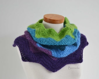 FLOWER2, Crochet cowl pattern pdf
