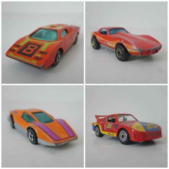1980 Lamborghini For Sale: 1980s Hot Wheels Matchbox Cars Set Of 4 By Halfpintsalvage