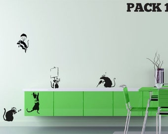 Banksy Rat Pack 1 Wall Stickers