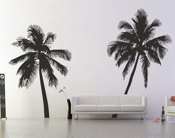 Palm Tree Silhouette Wall Stickers