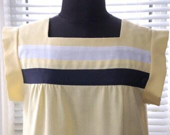 Vintage 80s Does 60s - Mod Minimalist - Spring Summer Day Dress - s/m