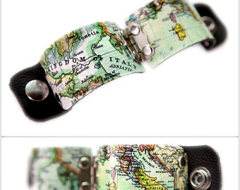 Old World Italy map cuff