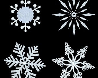 SNOWFLAKES - 20 Machine Embroidery Designs Instant Download 4x4 5x7 6x10 hoop (AzEB)