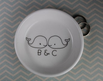 parisian . ring hsh - Whales Line Drawn Ring Holder