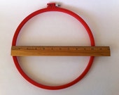 Boye 10 inch Embroidery Hoop Plastic and Metal Tension Screw Red Color