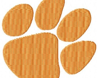 Tiger Paw Print Machine Embroidery Design