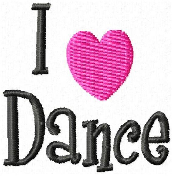 I love dance machine embroidery design mini for I love design