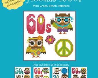 Hooties 1960s Cross Stitch Pattern PDF Chart