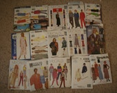 Lot of 15 Sewing Patterns - All Appear Uncut - McCalls - Butterick - See and Sew - Clothing - Womens - Etc