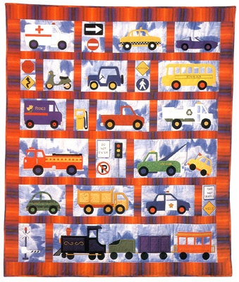 Around Town Baby Child Quilt Pattern By Country Quilter Cars