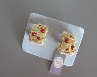 Vintage DIOR gold earrings