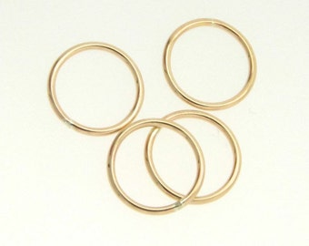 2 Pcs 12mm Circle Link, Connector 14K Gold Filled, Made in USA