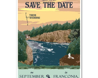 Vintage St. Croix River, Minnesota Save the Date Postcard (set of 20)