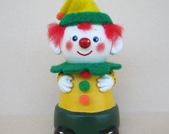 Clown Flowerpot Bell Ornament