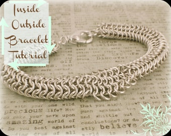 Printed Inside Outside Chainmaille Bracelet Tutorial