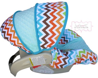 Car Seat Cover Bermuda Chevron Infant - Moves to Toddler