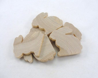 Wooden rabbit cutout, wooden bunny cutout, unfinished rabbits, unfinished bunnies, diy set of 6