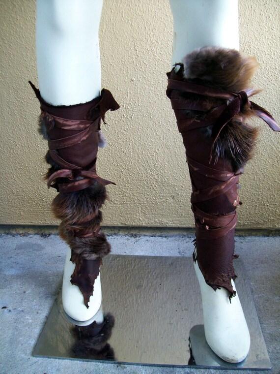 Forsworn Leg Wraps Tribal Leather Greaves Skyrim Elder