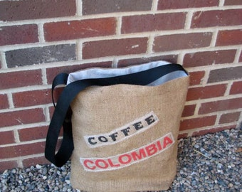 Burlap Tote Bag Made With Coffee Sack