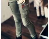SD13Girl Skinny Cargo Pants-Khaki