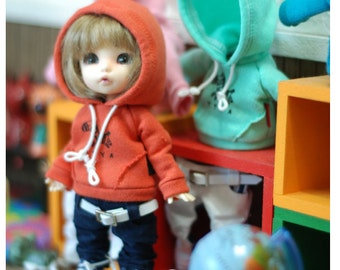Lati yellow Pukifee Zebra Hooded -D.Orange