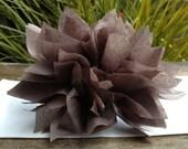 10 Slate Gray Paper Dahlia Napkin Rings. Perfect for weddings, receptions, baby showers, decor, birthdays. Tissue paper pom poms.