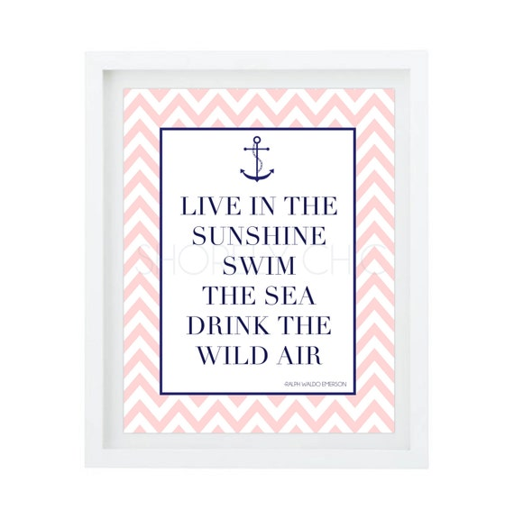 Nautical Anchor Live in the Sunshine Print