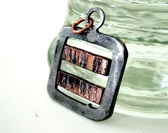 Industrial Pendant: Two Copper Stripes