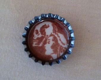 Death and His Bride Bottle Cap Magnet