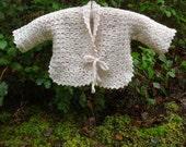 Crochet Pattern PDF- Vintage Inspired Baby Jacket - PB-103