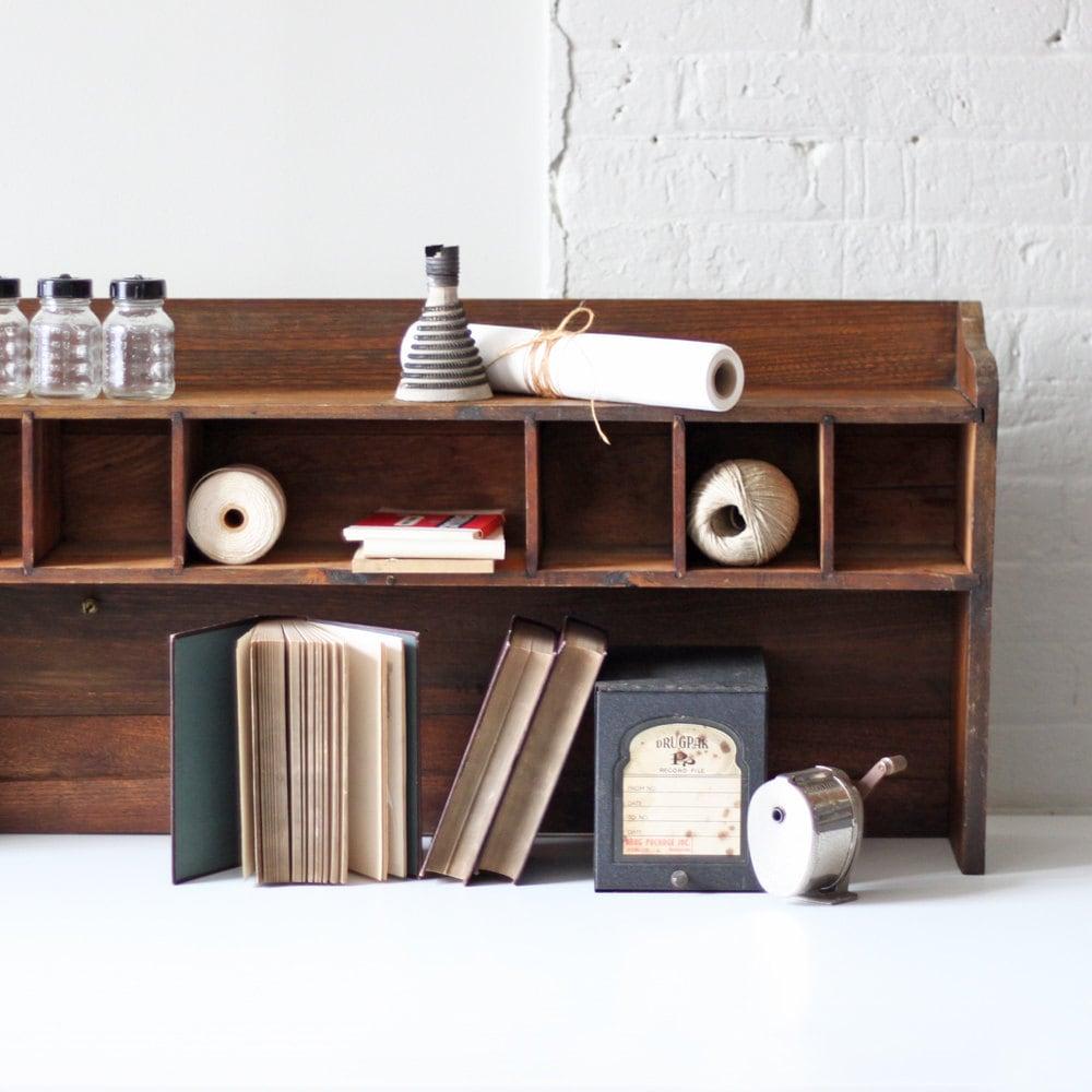 Mail Order Kitchen Cabinets: Vintage Pigeon Hole Cabinet Mail Sort Desk Top Hutch