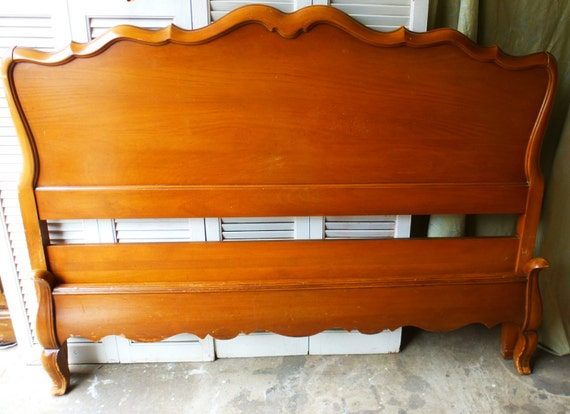 Romantic full size headboard and footboard vintage by for Full size footboard