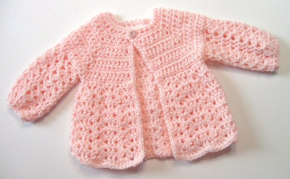 Top Down Crochet Baby Sweater Pattern Instant Download