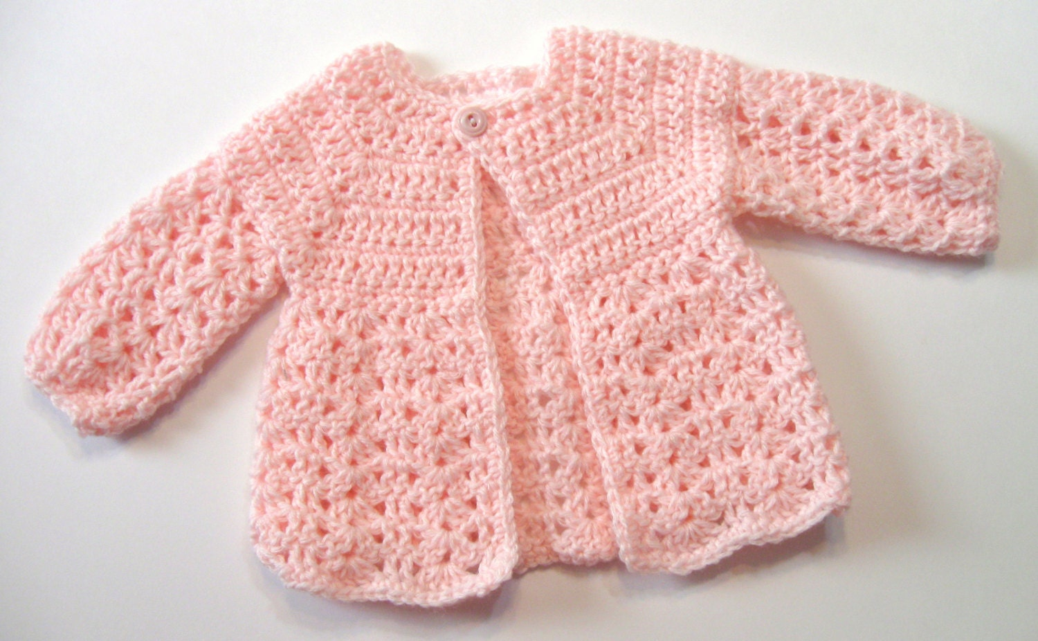 Crochet Pattern Baby Sweater Perfect for Girls by NormasTreasures