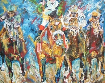 Barbaro Horse Racing art limited edition print small giclee' signed