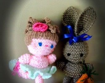 Amigurumi dolls Ballerina & Bunny