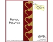 Peyote Stitch Pattern: Honey Hearts bracelet - INSTANT DOWNLOAD pdf -Discount codes are available