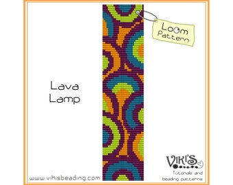 Loom Bracelet Pattern: Lava Lamp - INSTANT DOWNLOAD pdf -Discount codes are available - bl242