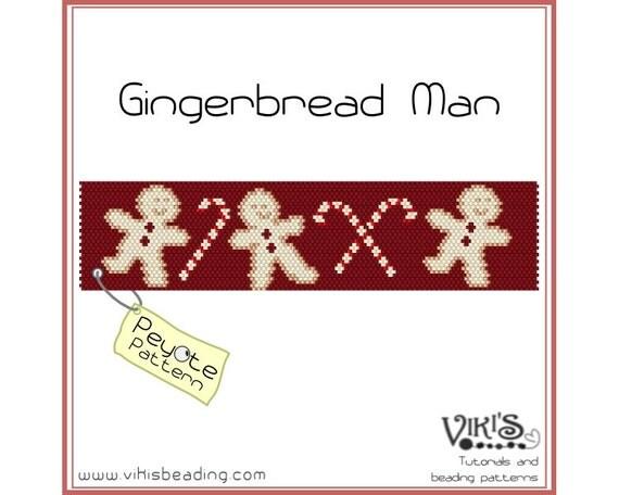 Peyote Pattern for bracelet: Gingerbread Man - PDF - buy more, save more