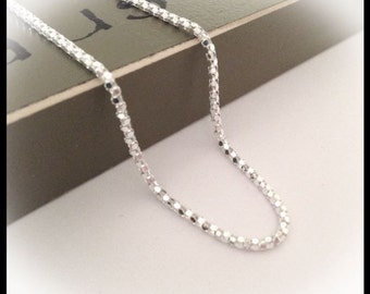 Sterling Silver Ankle Bracelet - 9 inches with a 1 inch extender