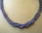 Shimmer and Glimmer, 5 Strands of Beautiful Iolite.