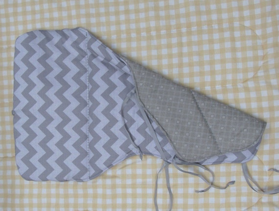 Eddie bauer jenny lind pad reversible high chair cover gray chevron