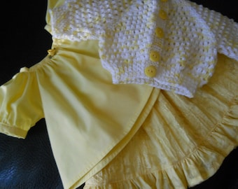 American Girl Beautiful Sweater Set in Spring Lemon Yellow for 18inch doll Clothes