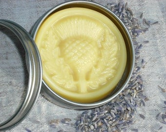 FREE SHIPPING- Shea Butter Bar / Cocoa Butter Body Bar / LAVENDER Essential Oil / Solid Lotion Bar