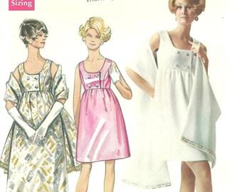 Butterick 5212 Dress Stole sz 14 Vintage 1960s Pattern  FF