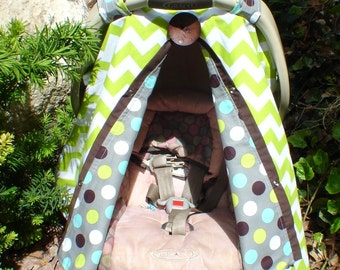 Boy car seat canopy / car seat cover / nursing cover / carseat canopy / carseat cover